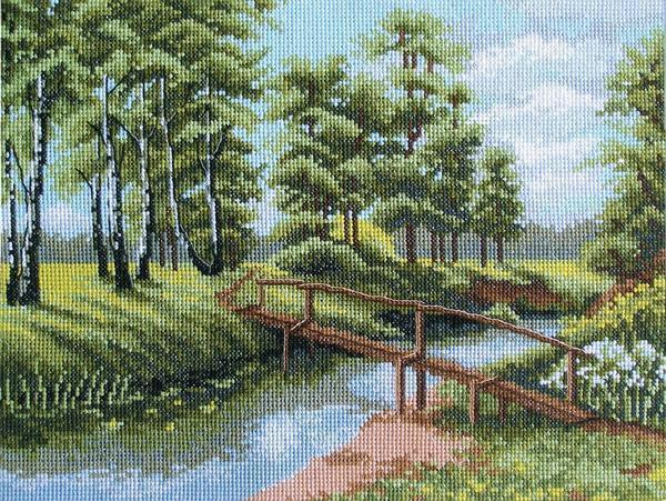 Лесной пейзаж не только украсит комнату, но и будет позитивно влиять на психику человека