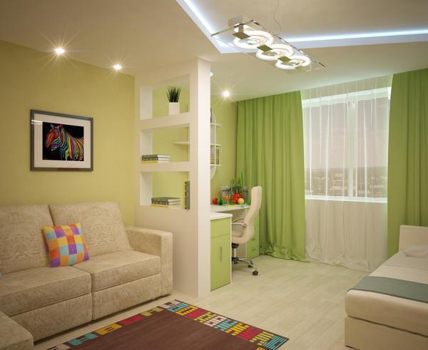 Крайне важно, чтобы цветовое оформление спальной зоны и гостиной совпадало по своей стилистике