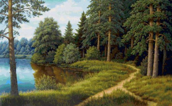 Вышитые пейзажи на летнюю тему - это оригинальные картины, создать которые можно даже новичку