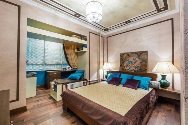 Детскую спальню можно оформить в сказочном стиле, украсив комнату яркими элементами декора