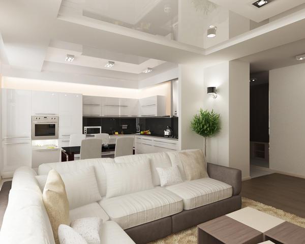 Демонтированная стена позволит расположить больше вещей, или попросту оставит место для большего простора
