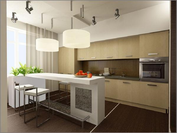 Кухня, совмещенная с гостиной, — прием, часто используемый как при дизайне «хрущевок» и «брежневок», так и в новых просторных квартирах-студиях, лофтах, коттеджах