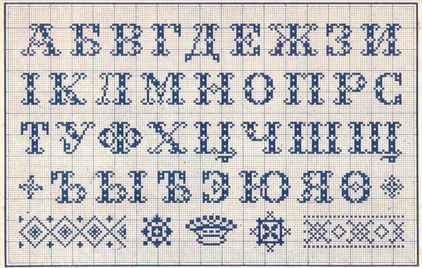 Буквы можно вышить на детских вещах или предметах текстиля