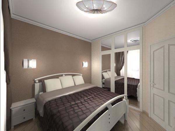 Для маленькой спальни специалисты рекомендуют подбирать компактную, но функциональную мебель