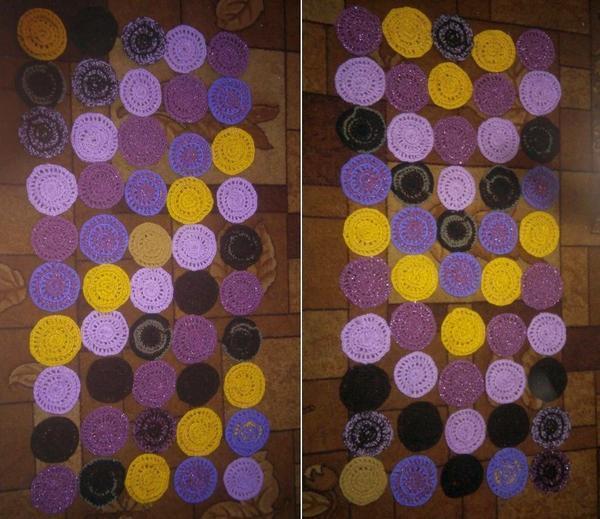 Соединять цветово кружки можно произвольно, в данном случае используется сочетание цветовых диагоналей