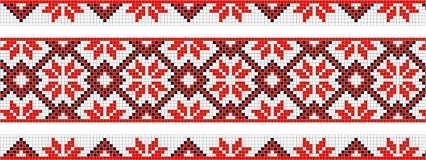 Схематические узоры прекрасно смотрятся на скатертях и рушниках, а вышивать их довольно просто