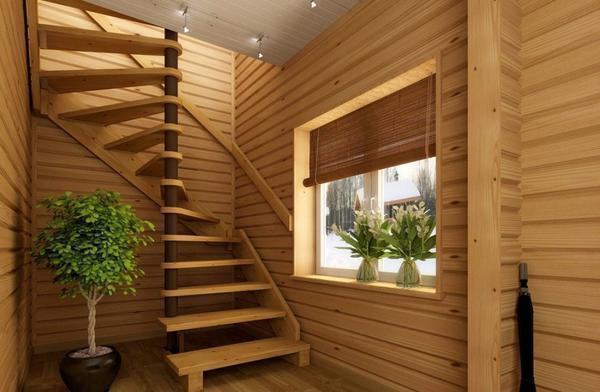 Чтобы лестница была практичной, ширина ступеней должна позволять разминуться на ней двум людям