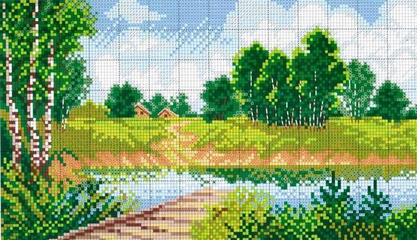 Самые красивые картины, которые наиболее чаще вышиваются крестиком, это пейзажи