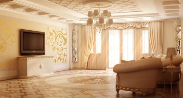 Затевая ремонт зала, продумайте дизайн комнаты, чтобы создать оригинальный и неповторимый интерьер