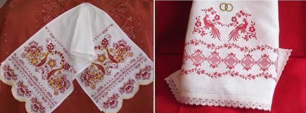 С помощью вышивки крестом можно украсить кухонный текстиль: фартуки, полотенца, салфетки