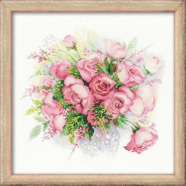 """Компания """"Риолис"""" производит много разных идей для вышивания, среди которых популярными <i>весенний хоровод - Схема для вышивания крестиком</i> являются красочные цветы"""