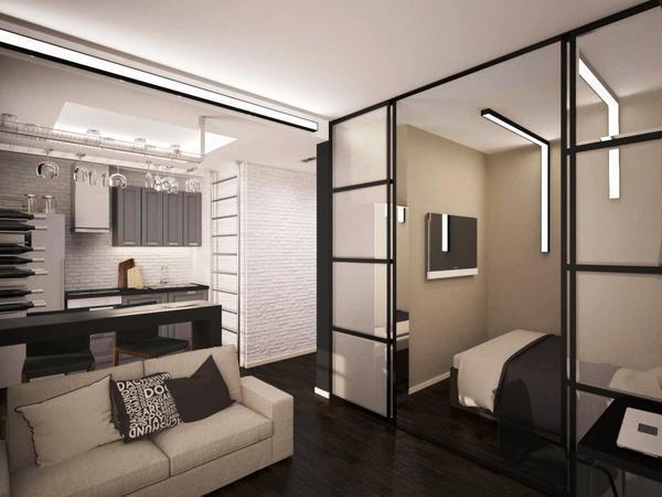 Отличным решением для маленькой квартиры станет совмещенная гостиная со спальней