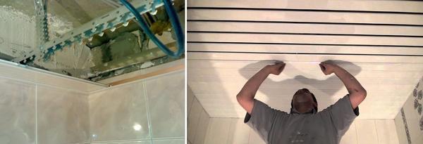 Если вам требуется отремонтировать ваш реечный потолок, то процесс начнется с частичной разборки реек