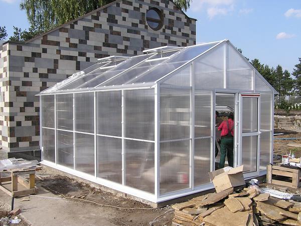 Отличным решением является использование поликарбоната для отделки теплицы