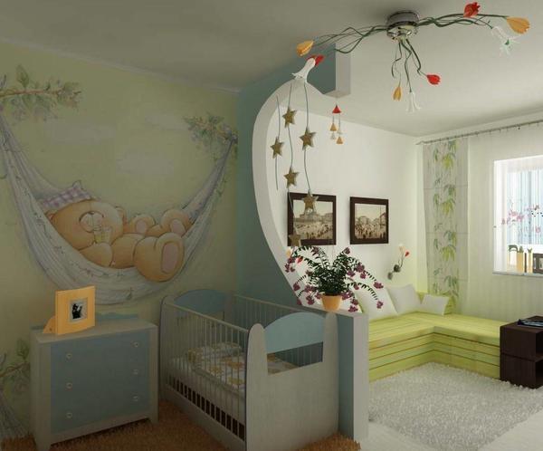 Придумать дизайн красивой гостиной-детской можно как самостоятельно, так и с помощью профессионального дизайнера