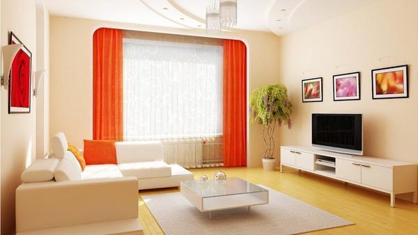 Обои светлых тонов визуально расширят границы небольшого по площади зала