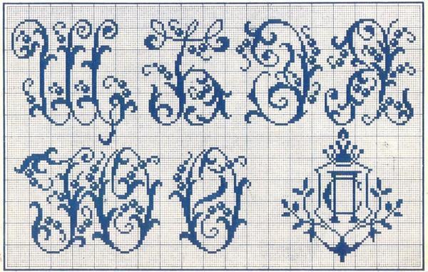На сегодняшний день существует масса схем со всевозможным изображением букв