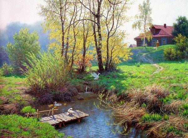 Красиво выполненные деревенские пейзажи - это настоящий шедевр, который с легкостью украсит любой интерьер