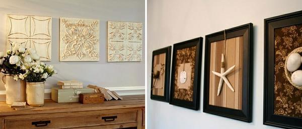 Для изготовления декоративных панно можно использовать практически любые подручные материалы и средства