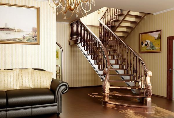 Если лестница еще не собрана, то ее стоит покрасить перед началом сборки