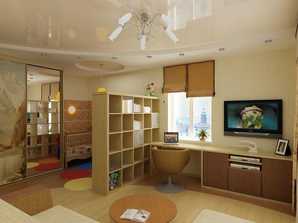 Сделать гостиную-детскую уютной и функциональной можно благодаря практичной и компактной мебели