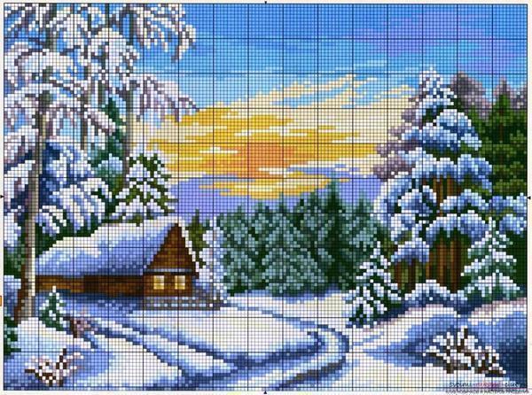 Если вы только начинаете заниматься вышиванием, в таком случае выбирайте простые пейзажи