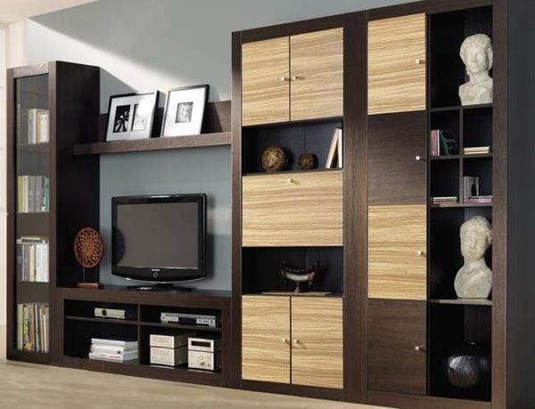 Модульная система хороша тем, что каждую часть мебели вы можете расположить в любой комнате, и при этом будет выдержан общий стиль помещения
