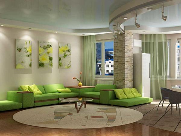 Огромный выбор палитры красок для вашей гостиной сделает ее оригинальной и в то же время уникальной
