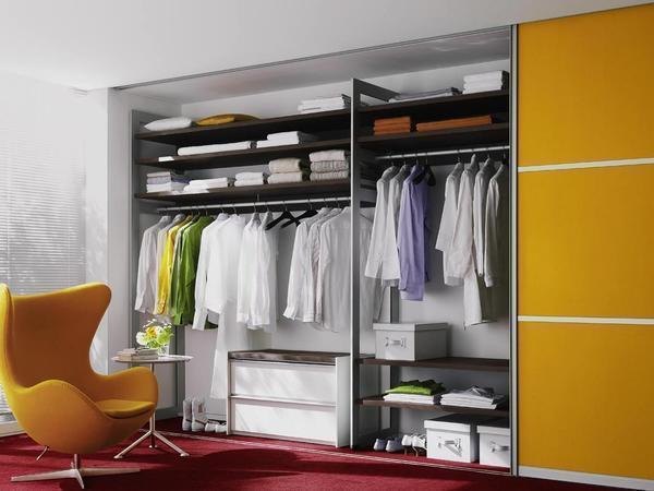 Гардеробная-шкаф станет хорошим решением для небольшого помещения