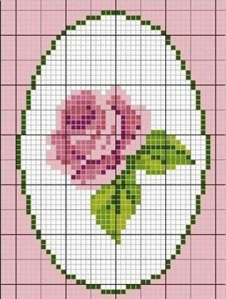 Новичкам в вышивании лучше начинать с небольших картинок, где изображена одна роза