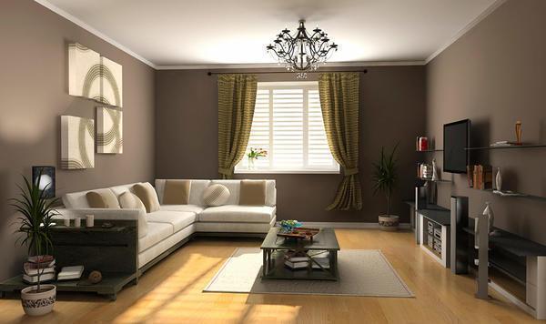 Грамотно подобранные обои подчеркнут стиль зала, придадут ему индивидуальность